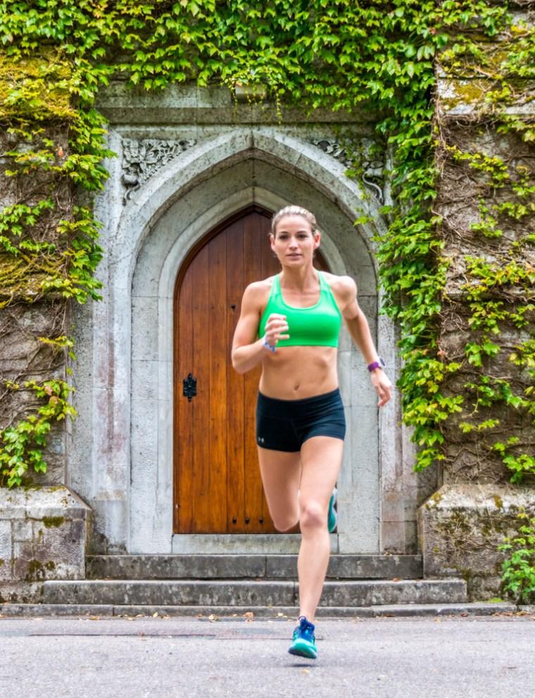 Corky on a run at University College Cork, Ireland