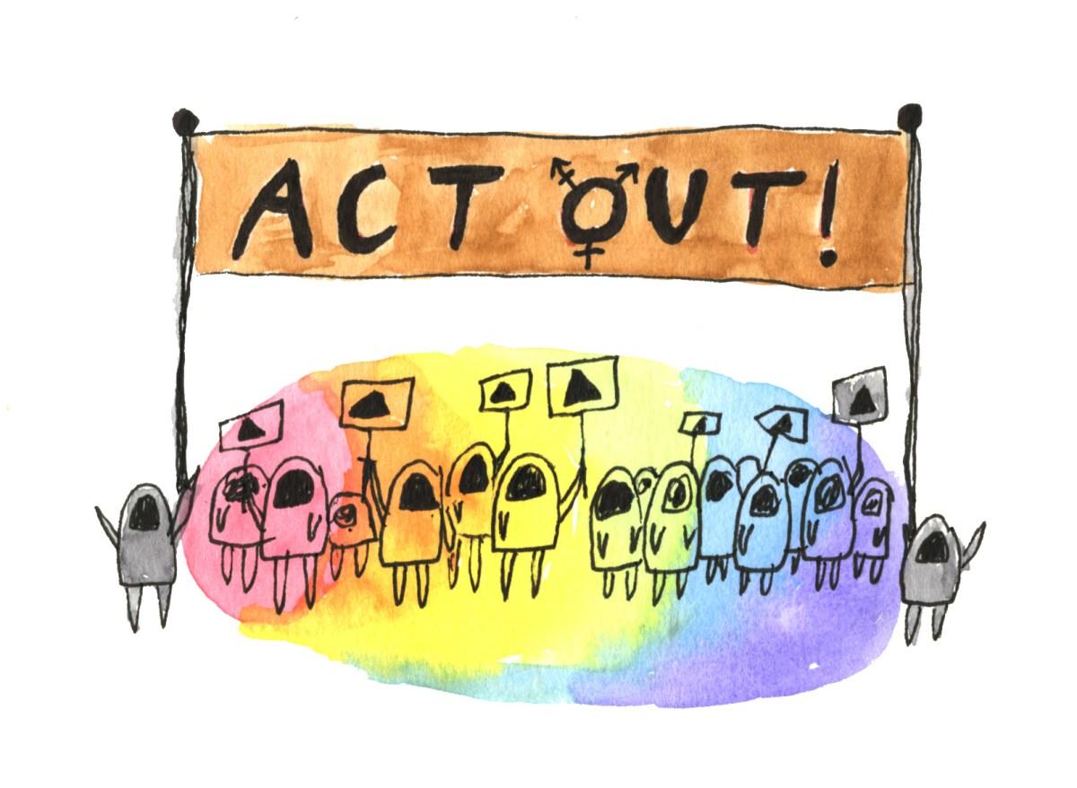 rainbow protest
