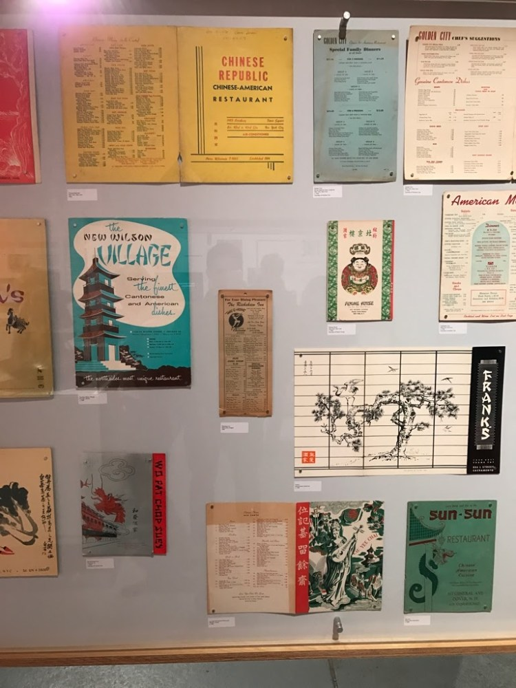 Chinese takeout menus at Museum of Food and Drink