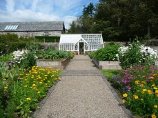 Kitchen Garden with Lean-To Green House