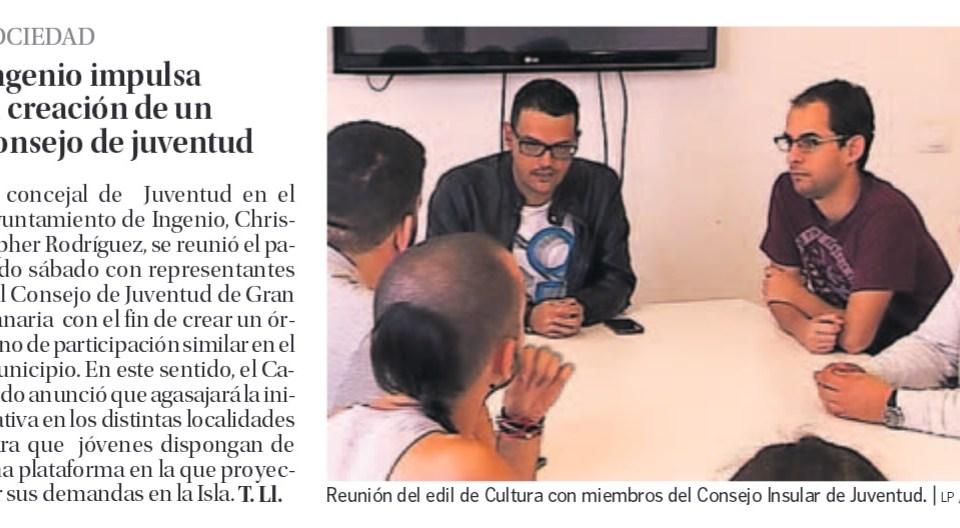 #Ingenio impulsa la creación del Consejo de la Juventud.