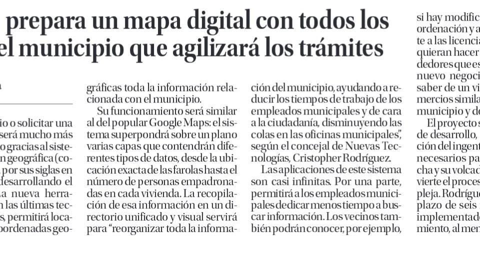 Ingenio crea un mapa digital con todos los recursos del municipio.