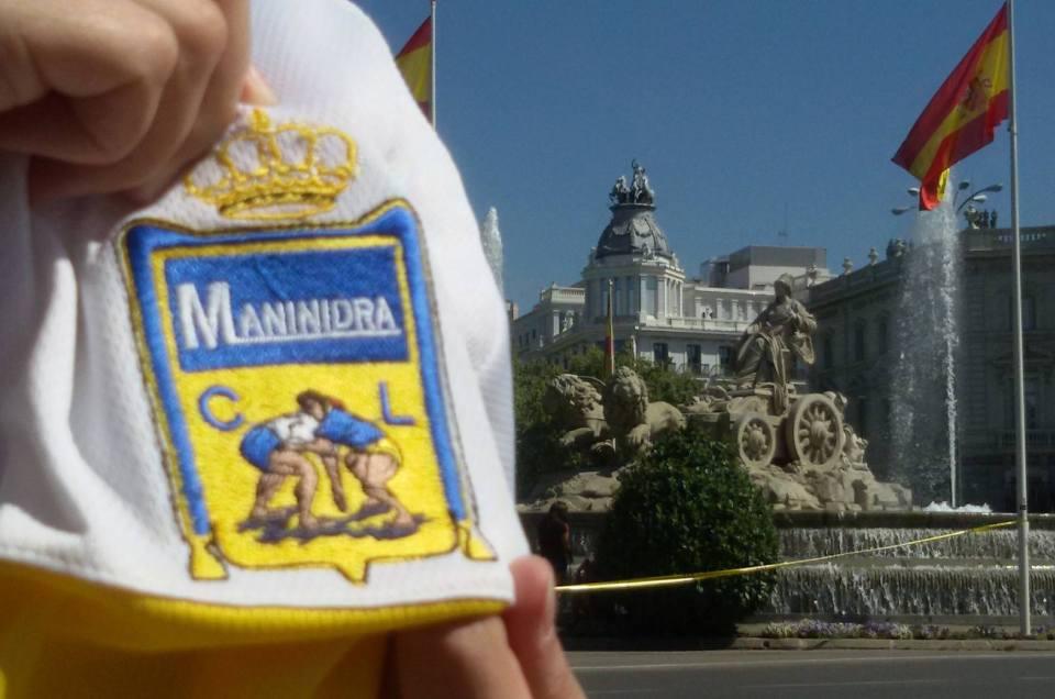 Noemí, en Madrid, orgullosa de nuestros símbolos de identidad.