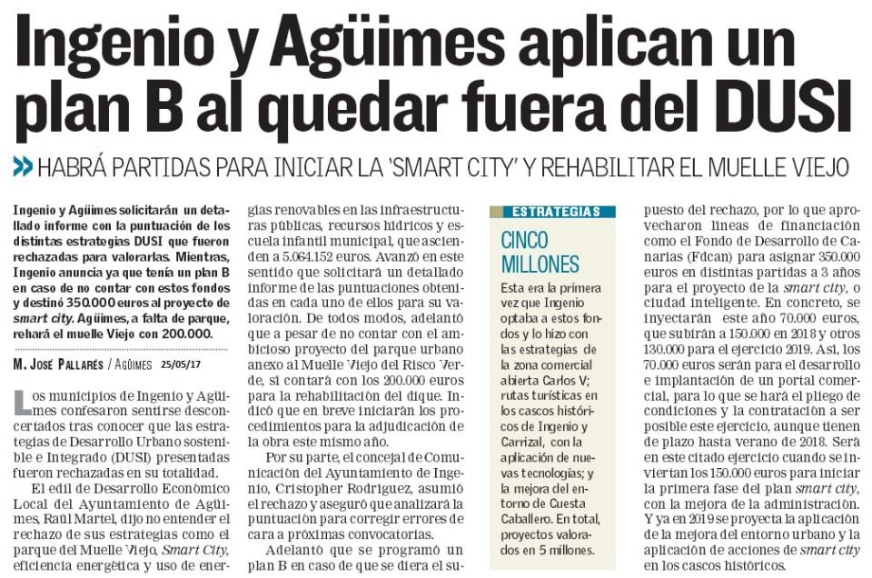 Ingenio y Agüimes aplican un plan B al quedar fuera del DUSI.