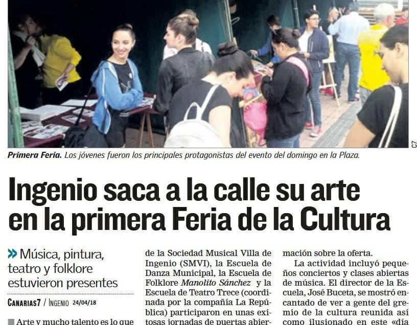 Ingenio saca a la calla su arte en la primera Feria de la Cultura.