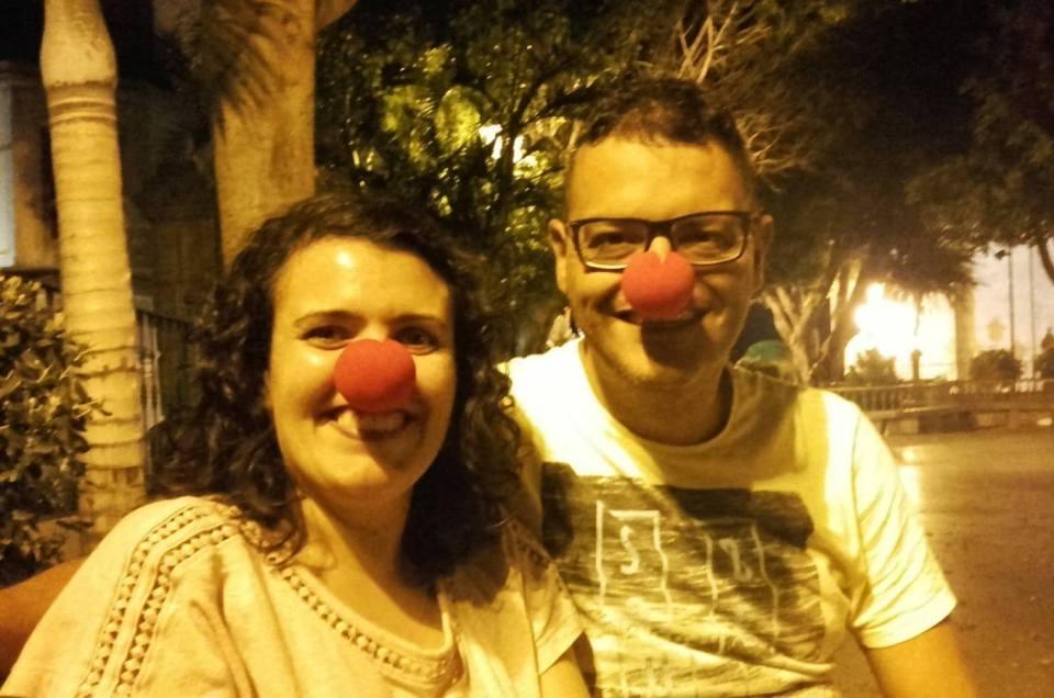 Apoyando la campaña «Sonrisas por narices».