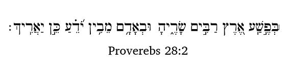 Proverbs 28:2