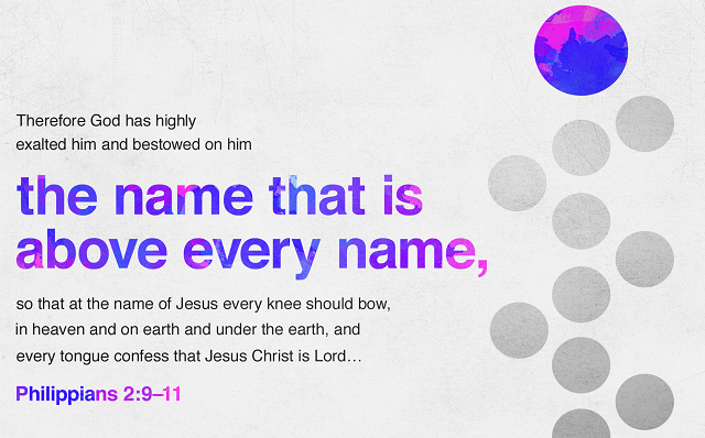 Philippians 2:9-11