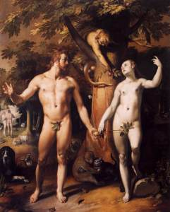 """The Fall of Man"" by Cornelis van Haarlem (1562-1638)"
