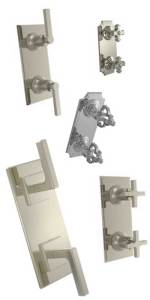 Phylrich mini thermostatic shower control trim in any finish.