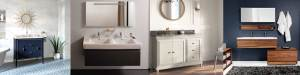 Bathroom vanities in Denver, CO from Christopher's Kitchen & Bath and Ronbow, Laufen, Wetstyle and Madeli.