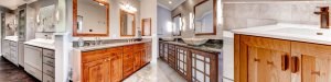 Custom bathroom vanities from Christophers Kitchen & Bath, Made in USA.