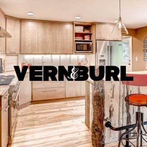 Vern & Burl custom cabinetry from Christopher's Kitchen & Bath in Denver, CO.