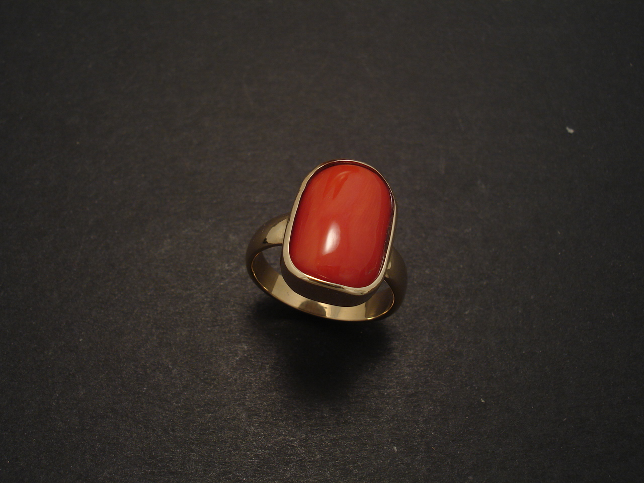 Red Coral Amp Gold Ring Christopher William Sydney