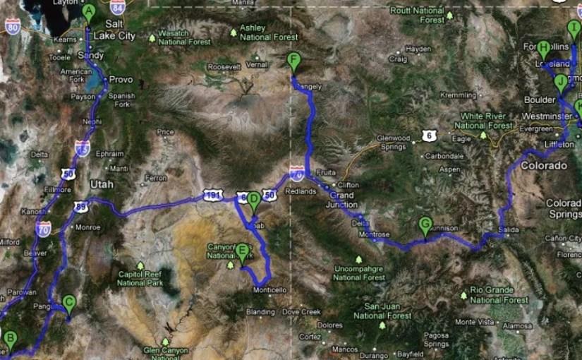 Utah and Colorado back country hiking road trip