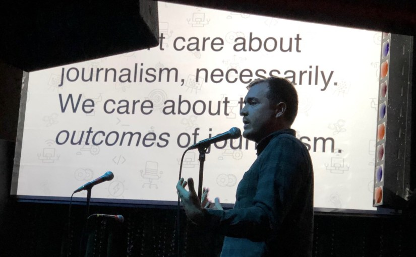 Journalism Thinking: a lightning talk at Ignite Philly