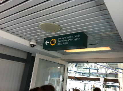 Ankunft Vancouver 13:00 Kanadischer Zeit (22:00 MEZ)