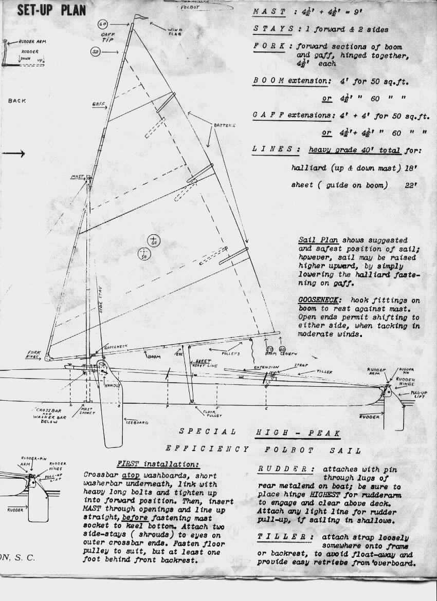 hight resolution of instruction sheet for folbot s famous lateen sail rig