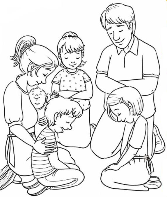 Kids Praying Together Clipart