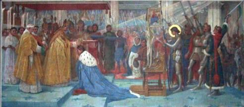 Jeanne d'Arc au Sacre de Charles VII à Reims