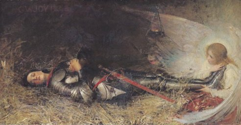 Jeanne d'Arc endormie, par George William JOY, 1895.