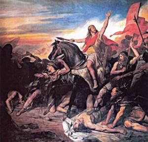 Ary Scheffer - Bataille de Tolbiac