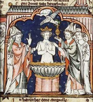 Saint Remy reçoit la Sainte Ampoule