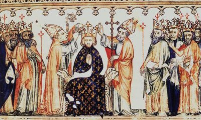 Le Sacre (miniature des « Grandes Chroniques de France »)