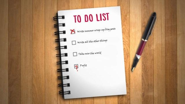 neverending to-do list