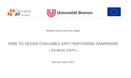 HOW TO DESIGN EVALUABLE ANTI-TRAFFICKING CAMPAIGNS • SIX BASIC STEPS •