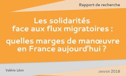 Rapport URD – Janvier 2018 – Les solidarités face aux flux migratoires : quelles marges de manœuvre en France aujourd'hui ?