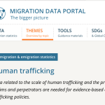 MIGRATION DATA PORTAL – Data related to the scale of human trafficking and the profile of victims and perpetrators are needed for evidence-based counter-trafficking policies