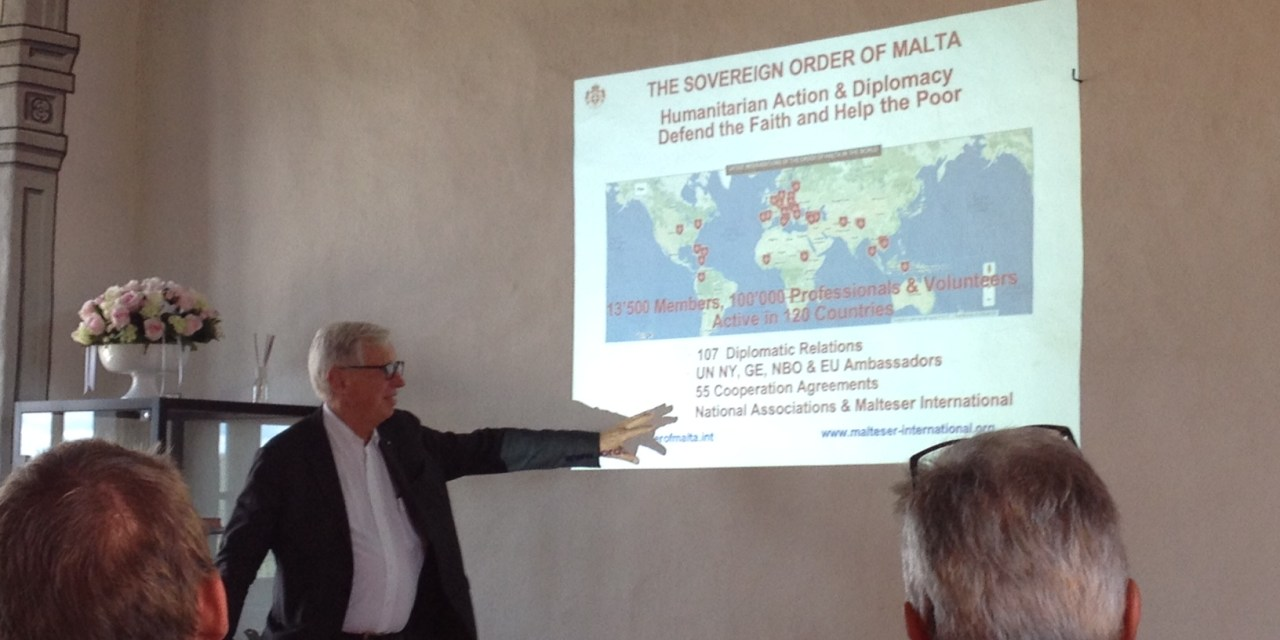Reiden, 23 septembre 2018 : La Diplomatie de l'Ordre de Malte à travers l'histoire et l'actualité :  neuf cents ans de défense  de la foi et de la charité