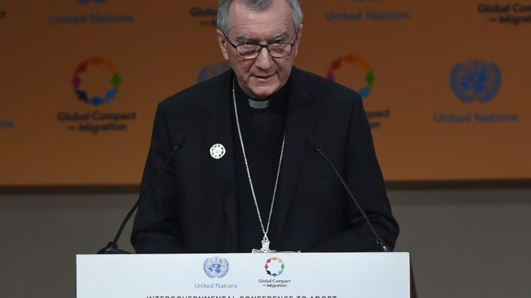 """Holy See's priorities for migrations : """"We must work together to create conditions that allow communities and individuals to live in safety and dignity in their own countries."""" – Global Compact for Safe, Orderly and Regular Migration, Marrakech Dec. 2018"""