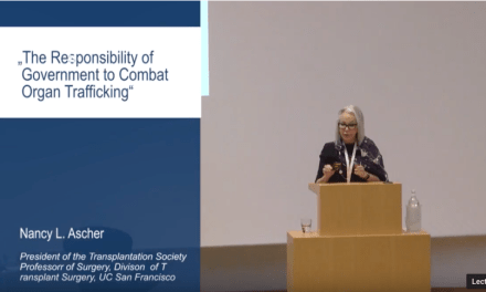 """VIDEO – Nancy L. Ascher: """"The Responsibility of Government to Combat Organ Trafficking"""""""