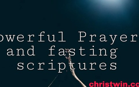40 powerful Prayer and fasting scriptures