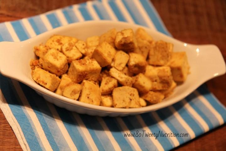 Finger Lickin' Tofu Nuggets - vegan, gluten-free, dairy-free, high in protein - Christy Brissette, media dietitian, 80 Twenty Nutrition