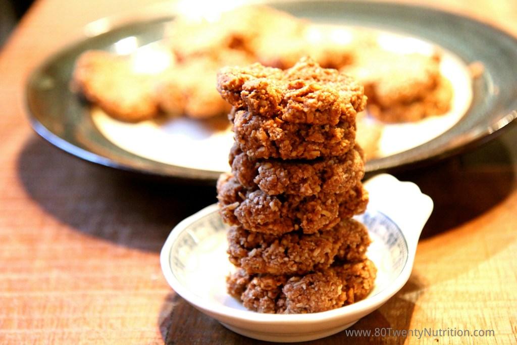 Almond Cocoa Macaroons healthy cookies vegan gluten free dairy free Christy Brissette best media dietitian nutritionist 80 Twenty Nutrition