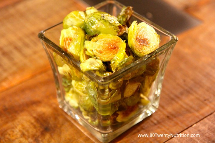 Roasted Brussels sprouts - Christy Brissette media dietitian 80 Twenty Nutrition