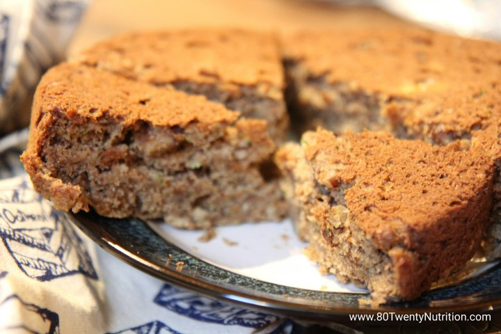 Vegan Zucchini Bread with Barley Flour - Christy Brissette - media dietitian - 80 Twenty Nutrition