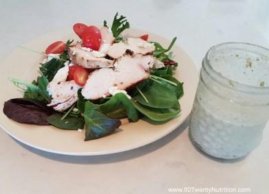 Jerk Chicken Salad - best ever! Gluten free, low carb and paleo - Christy Brissette media dietitian 80 Twenty Nutrition