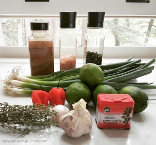Jerk chicken - jerk sauce ingredients - best ever! Gluten free, low carb and paleo - Christy Brissette media dietitian 80 Twenty Nutrition