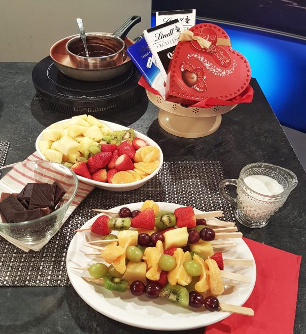 Dark Chocolate Fondue with Fresh Fruit - registered dietitian nutritionist Christy Brissette 80 Twenty Nutrition