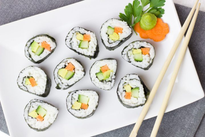 Nori Sushi - Seaweed Health Benefits from Registered Dietitian Christy Brissette of 80 Twenty Nutrition