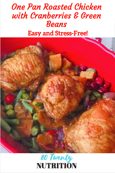 one pan chicken roasted cranberries green beans