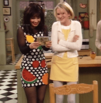 Fran Fine and Maggie Sheffield on The Nanny