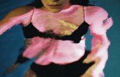 photo of lord's body in a pool from album booklet for melodrama by lorde
