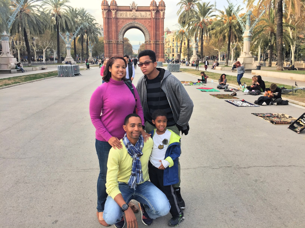 Christy Irene in Barcelona with Family