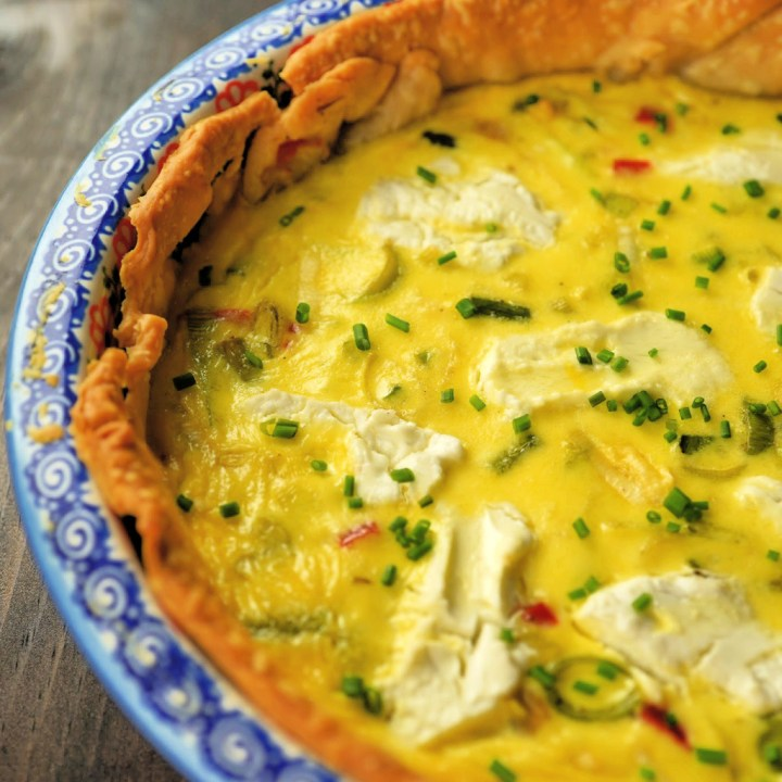 Leek, Asparagus, and Goat Cheese Quiche
