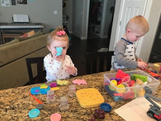 Playdough fun March 2019